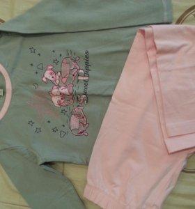 Пижама для девочки, р 116. Новая
