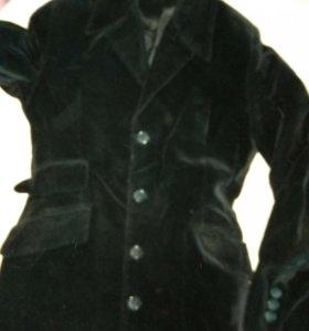 Костюм двойка из бархата, платье и пиджак.