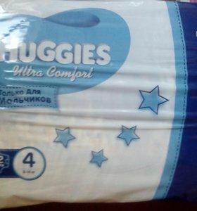 Подгузники Huggies 4 для мальчиков