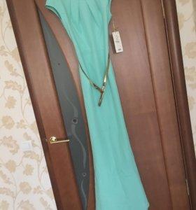 платье шикарное бирюзовое