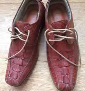 СРОЧНО Мужские туфли из кожи крокодила