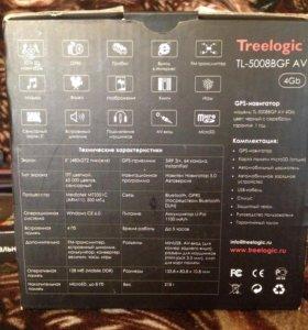 GPS Навигатор Treelogic TL-5008BGF AV 4GB с регист