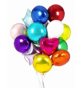 Фольгированные шары с гелием !