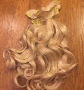 Накладные волосы на заколках (50 см)