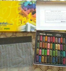 Мягкая пастель mungyo +цветная бумага в подарок