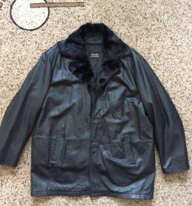 Кожаная куртка с подкладом