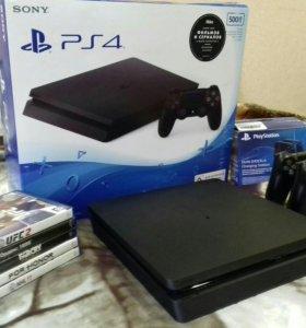 Playstation 4 slim 2 геймпада