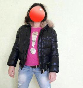 Натуральный пуховик женский MONCLER.куртка