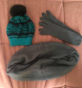 Шапка, снуд и перчатки