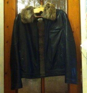 Натуральная Зимняя кожаная куртка