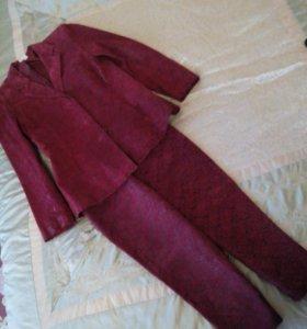 Кожаный костюм, бриджи и пиджак, 46 разм