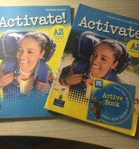 Учебник и тетрадь по английскому Activate A2