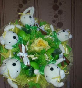 Букет из 5 зайцев