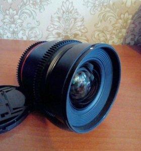 Samyang 16mm T2.2 ED AS UMC CS VDSLR Nikon F