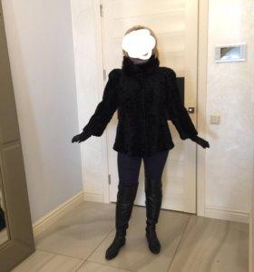 Шуба -пиджак натуральная короткая
