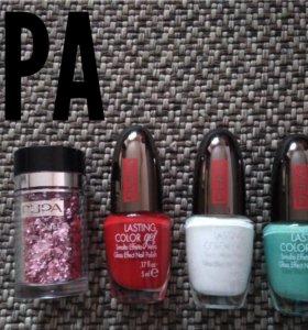 Новые лаки для ногтей и блёстки универсальные Pupa