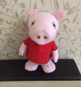 Свинка пеппа музыкальная танцующая игрушка