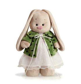 Зайка Ми в зеленом пальто, подарок, мягкая игрушка