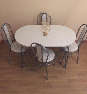 Стол и 4 стула - комплект новый!
