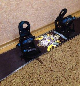 Комплект сноуборд 147 крепления ботинки