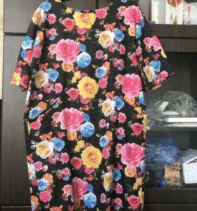 Джинсовое платье 50-52 размера