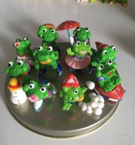 Коллекция киндер лягушата (лягушки)
