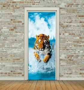 наклейка для комнатных дверей
