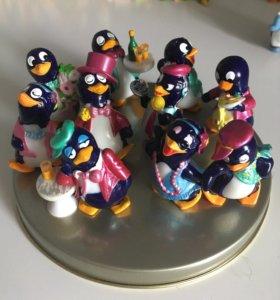 Коллекция фигурок киндер пингвины