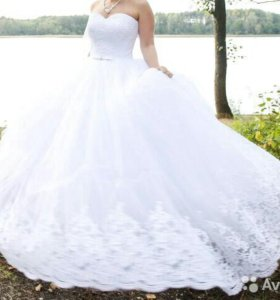 Пышное свадебное платье 42-44