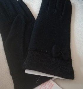 Перчатки новые, кашемировые, разм 7