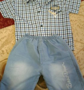 Комплект (рубашка и шорты) на мальчика 2-4 года