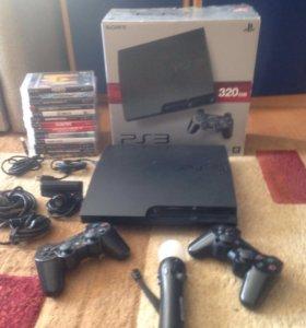 PlayStation 3 slim 320gb+13 игр