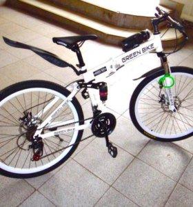 Велосипед складной Land Rover / Green bike белый
