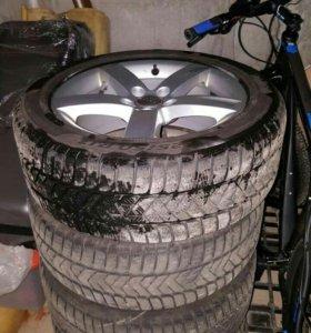 комплект зимних шин pirelli r17 225/50