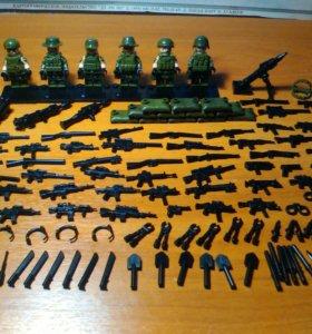 Лего военные в хорошем состоянии.