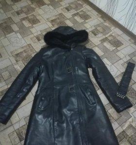 Зимняя куртка (кожа)
