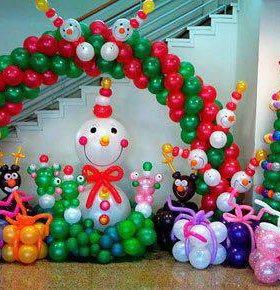 Композиции из шаров на Новый год 🎄