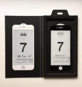 Защитное стекло 3D для iphone 7/8
