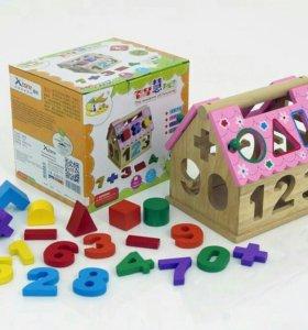 Логический домик-сортер с цифрами