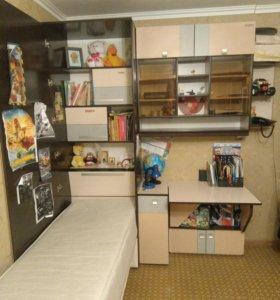 Стол, шкаф,кровать все в одном.