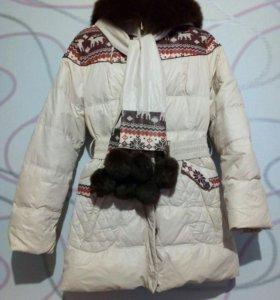 Зимняя куртка на  натур пуху
