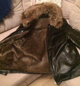 Куртка коженная зимняя