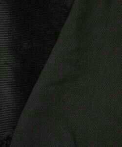 Микровельвет черный хб 210см