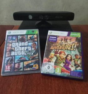 Xbox 360+kinect+2 диска