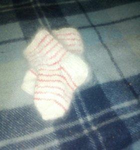 Носочки из собачьей шерсти