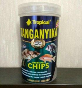 Корм для цихлид Tropical Tanganyika Chips, 1000 мл