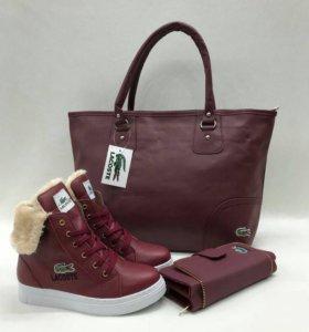 Сумка кошелёк ботинки