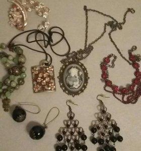 Бижутерия, изделия из натур. камней