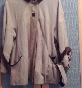 куртка замшевая с лазерной обработкой б\у