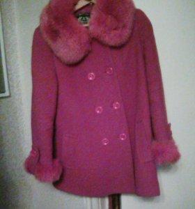 Пальто зимнее велюр